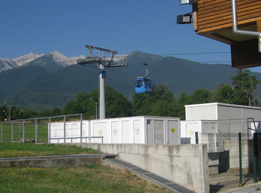 Electricity supply of the Ski area in Bansko